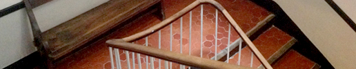 Escaliers de l'hôtel Auberge Seigneurs