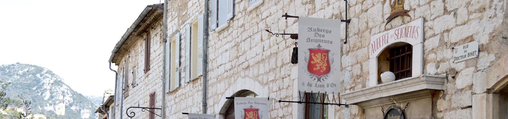 Haut façade Auberge des Seigneurs